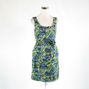 Blue yellow BARASCHI sheath dress 8